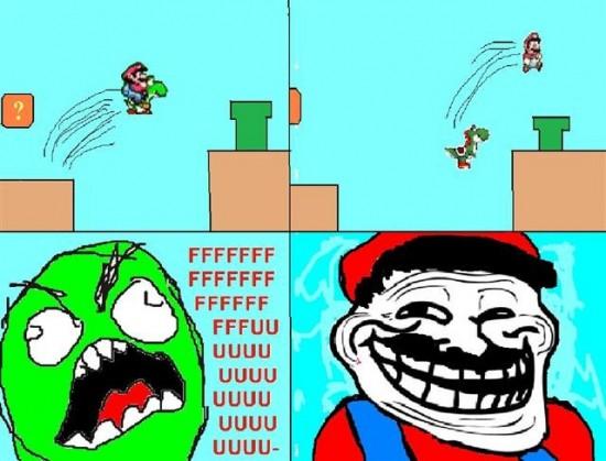 Ffffuuuuuuuuuu - Mario pasa de Yoshi