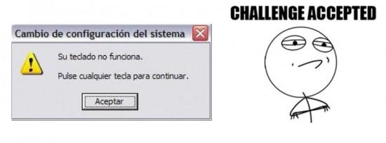 Challenge_accepted - Su teclado no funciona