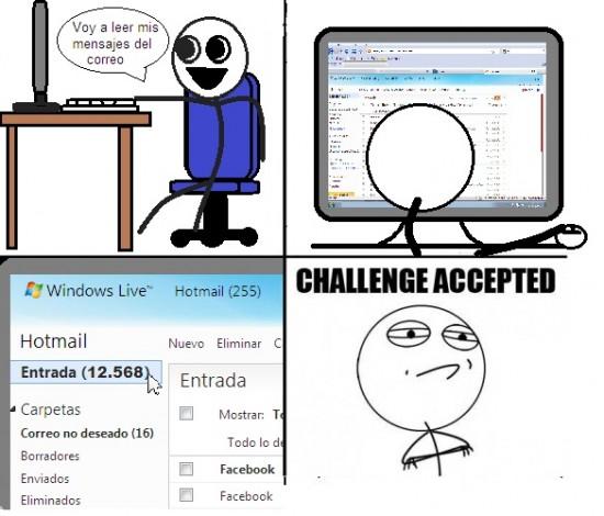 Challenge_accepted - 2 meses sin entrar en el Hotmail