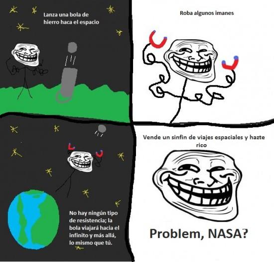 Trollface - Viajes espaciales