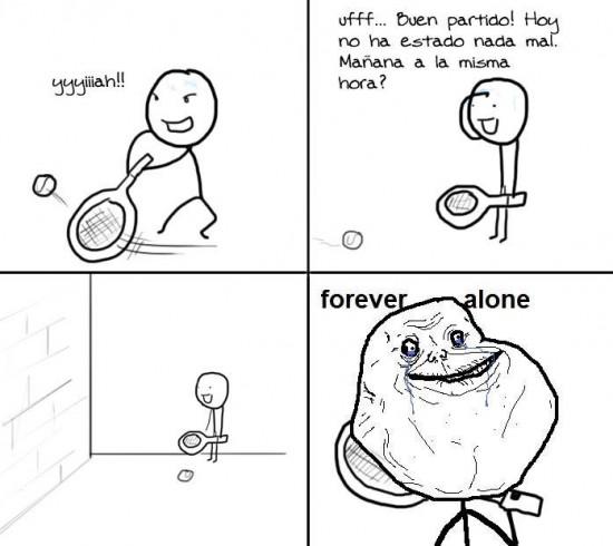 Forever_alone - Jugando al frontón