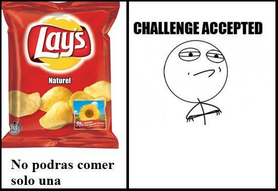 Challenge_accepted - Lays, no podras comer sólo una