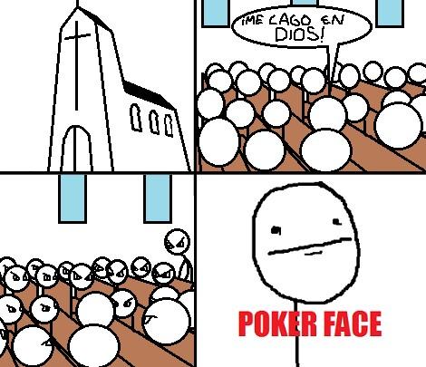 cagar,cristianos,Dios,gente,iglesia,Poker Face,religión,S18