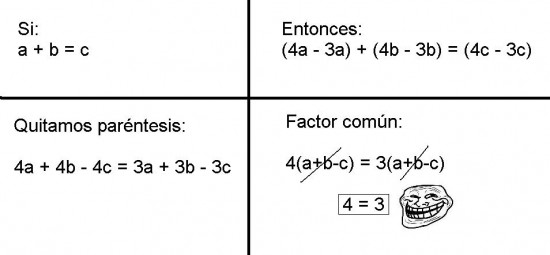 4=3,matematicas,troll science