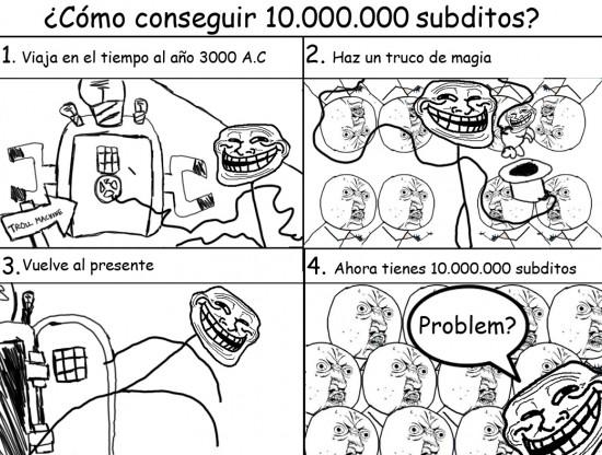 Trollface - ¿Cómo conseguir diez millones de súbditos?