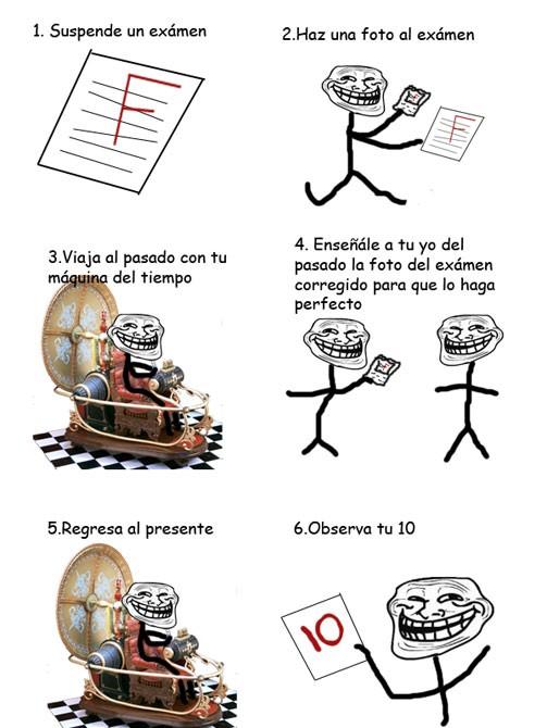Trollface - Cómo sacar un 10 en un examen