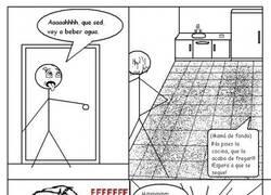 Enlace a Si el suelo está fregado... pues como en humor amarillo