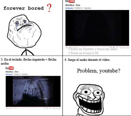Trollface - Comprueba el youtubesnake
