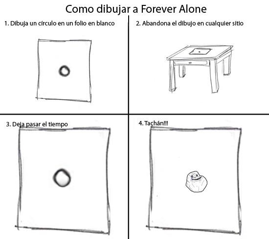 Forever_alone - Cómo dibujar a Forever Alone