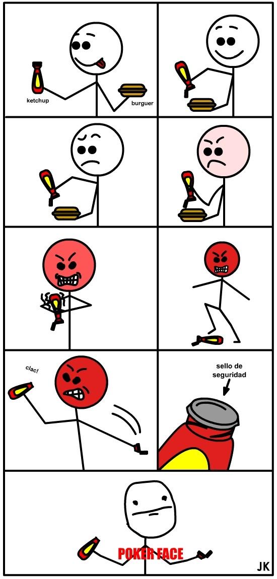 Pokerface - Ketchup fail