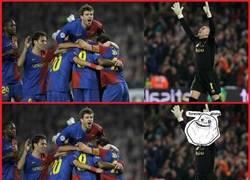 Enlace a Celebrando un gol del Barça