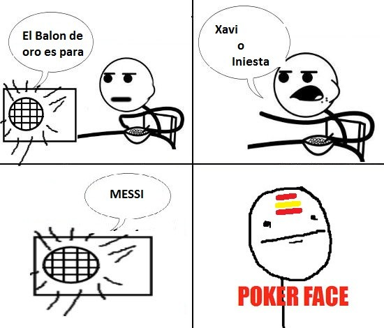 Pokerface - Balón de oro Fail