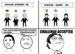 Enlace a Platini acepta el desafío