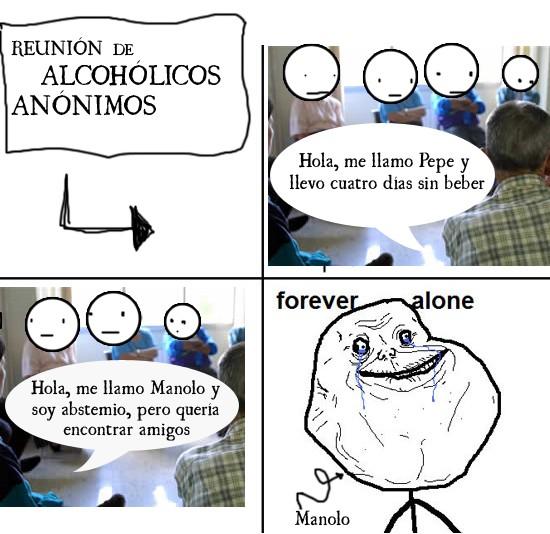 Forever_alone - Reunión de Alcohólicos Anónimos
