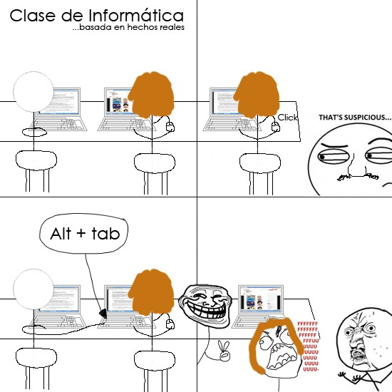 Trollface - Compañeros de clase