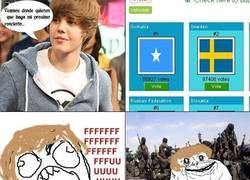 Enlace a Justin enviado a Somalia