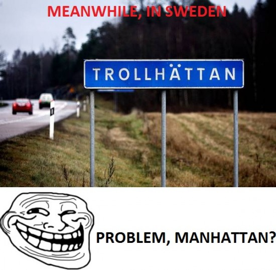 Trollface - Problem, Manhattan?