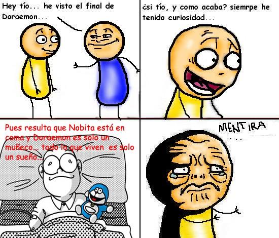 Doraemon,final,ment guy,mentira