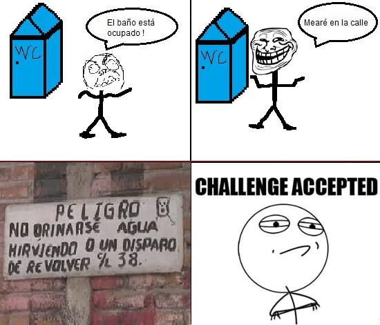 Challenge_accepted - Mear en la calle