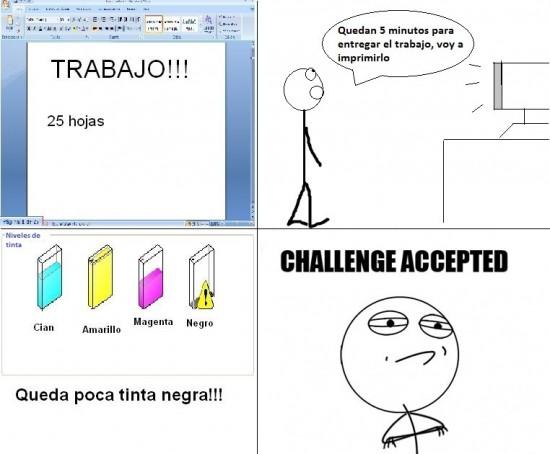 Challenge_accepted - ¿Problemas de tinta?
