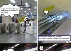 Enlace a Cuando no llegas al metro