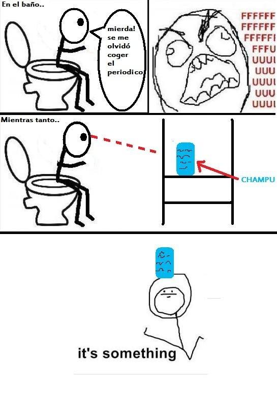 baño,it's something,jabón,periódico,wc