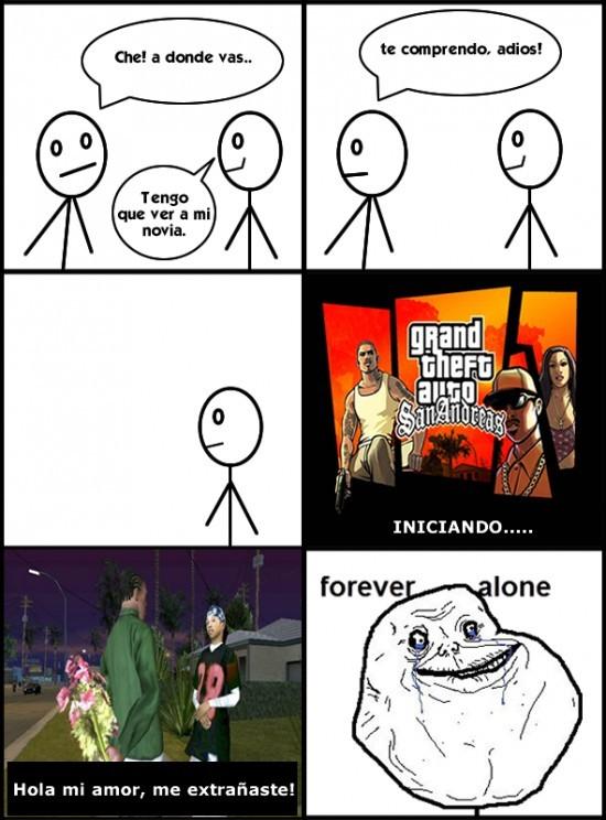 Forever_alone - Mi novia del GTA
