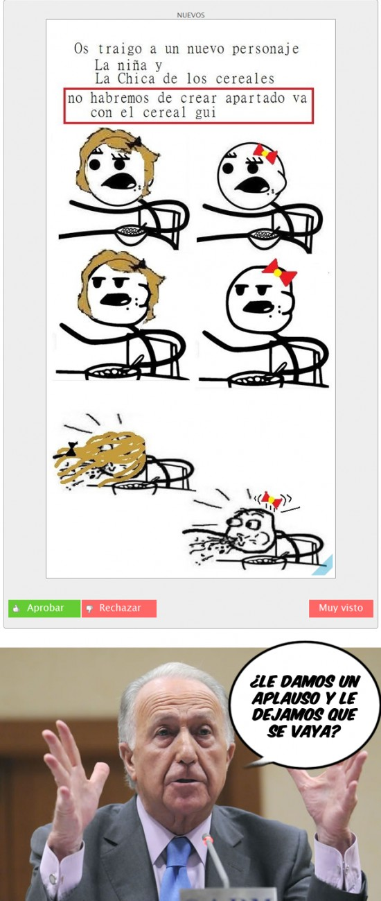 Aplauso,Cereal guy,Torreiglesias,¿cereal gui?