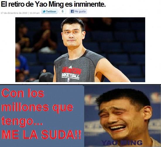Yao - Yao Ming se retira