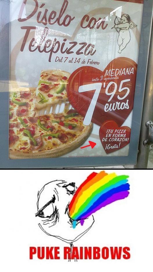 Otros - Pizza con forma de corazón
