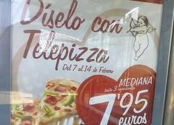 Enlace a Pizza con forma de corazón