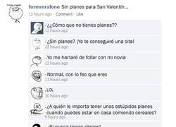 Enlace a San Valentín para Forever Alone