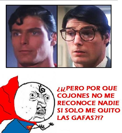 camuflaje,clark,gafa. capa,gafas,kent,reconocer,superhéroe,superman,Y U NO