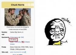 Enlace a Chuck Norris se hace mayor