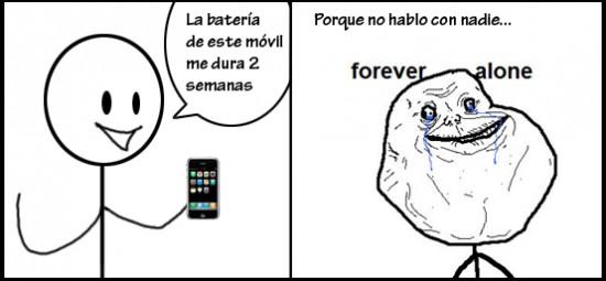 Forever_alone - La batería del móvil