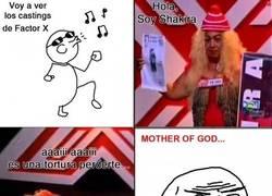 Enlace a Shakira en Factor X