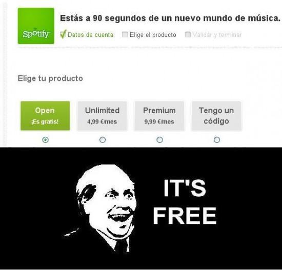 Its_free - Cuenta spotify