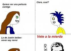 Enlace a Justin beiber never say never