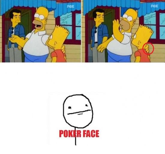 Pokerface - Simpsons fail