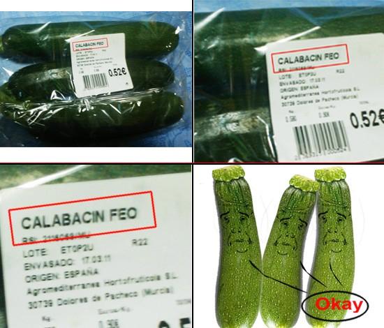 Okay - Calabacín feo