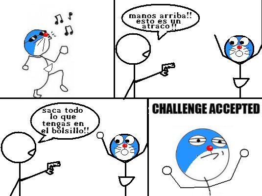 challenge accepted,doraemon
