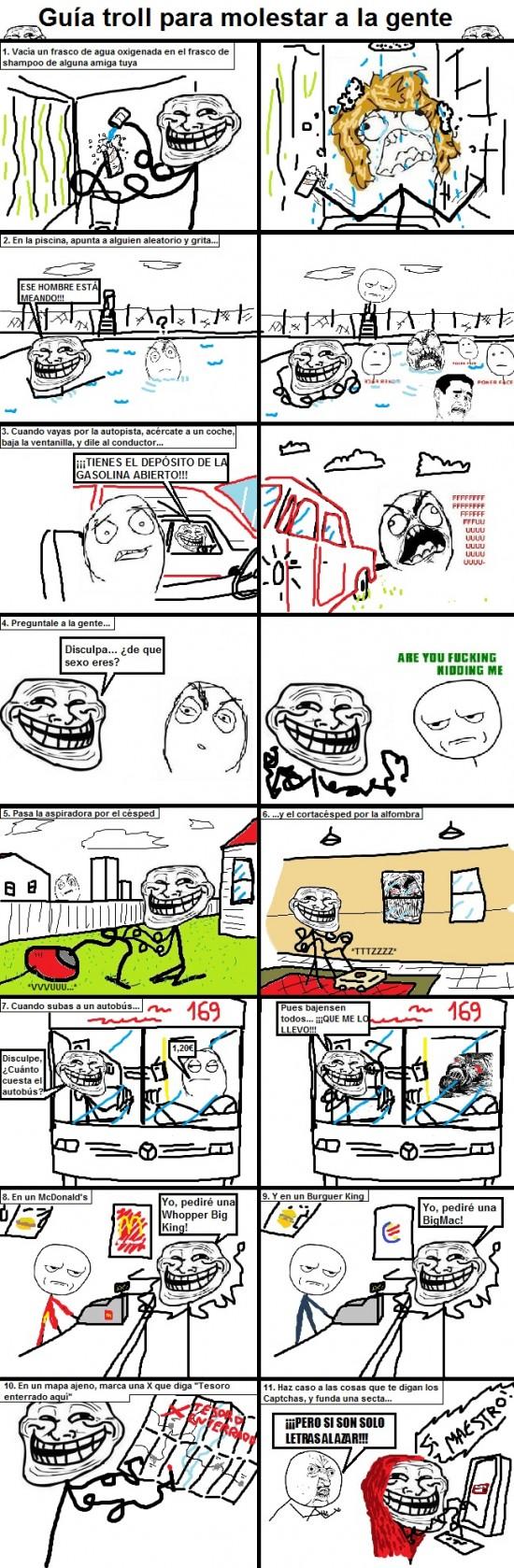 Trollface - Guía Troll para molestar a la gente