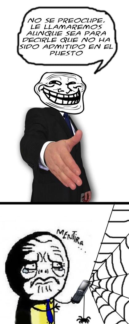 Mentira - Troll-promesas de entrevistas de trabajo