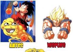 Enlace a Evolución de Goku