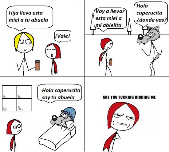 Kidding_me - Caperucita roja, a ésta no le tomas el pelo
