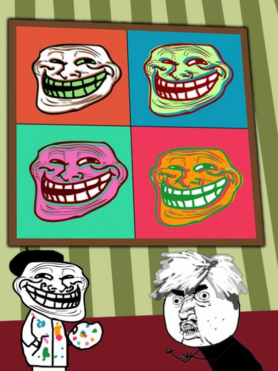 Trollface - Problem, Warhol?