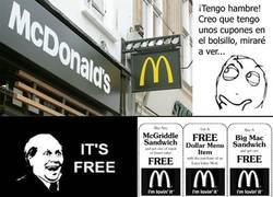 Enlace a Cupones del McDonald's