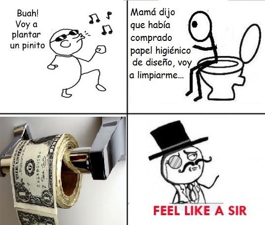 Otros - Feel like a sir, hasta en el baño