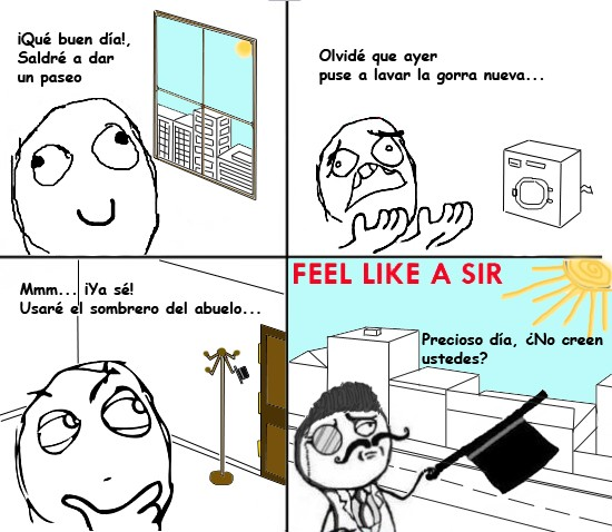 Feel_like_a_sir - Sombrero del abuelo