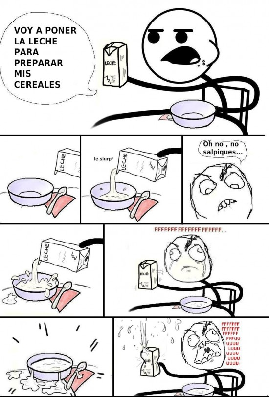 bol,cereal guy,cereales,fuuu,leche,rage guy